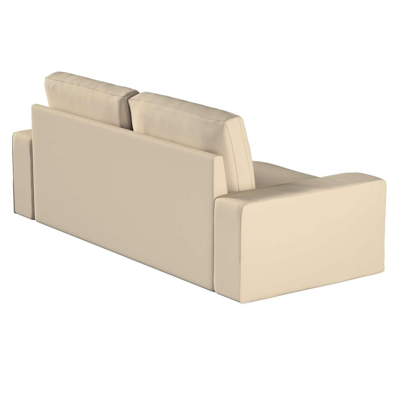 Pokrowiec na sofę Kivik 3-osobową, rozkładaną w kolekcji Cotton Panama, tkanina: 702-01