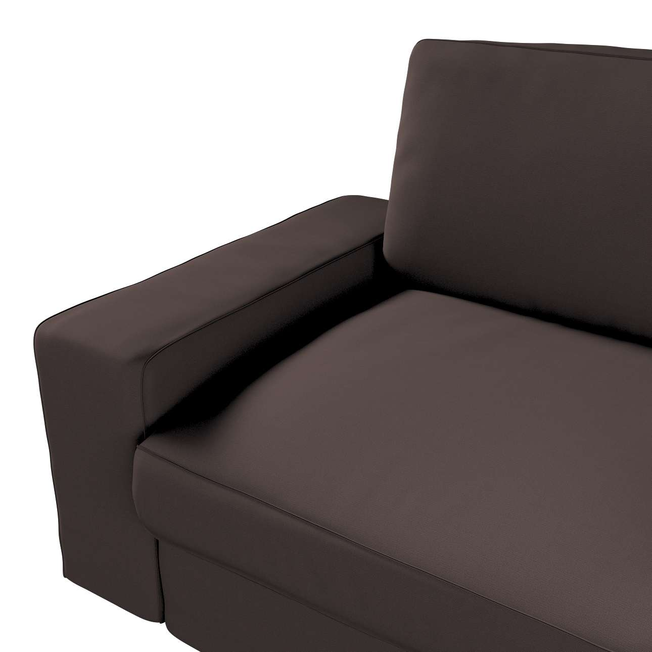 Pokrowiec na sofę Kivik 3-osobową, rozkładaną w kolekcji Cotton Panama, tkanina: 702-03