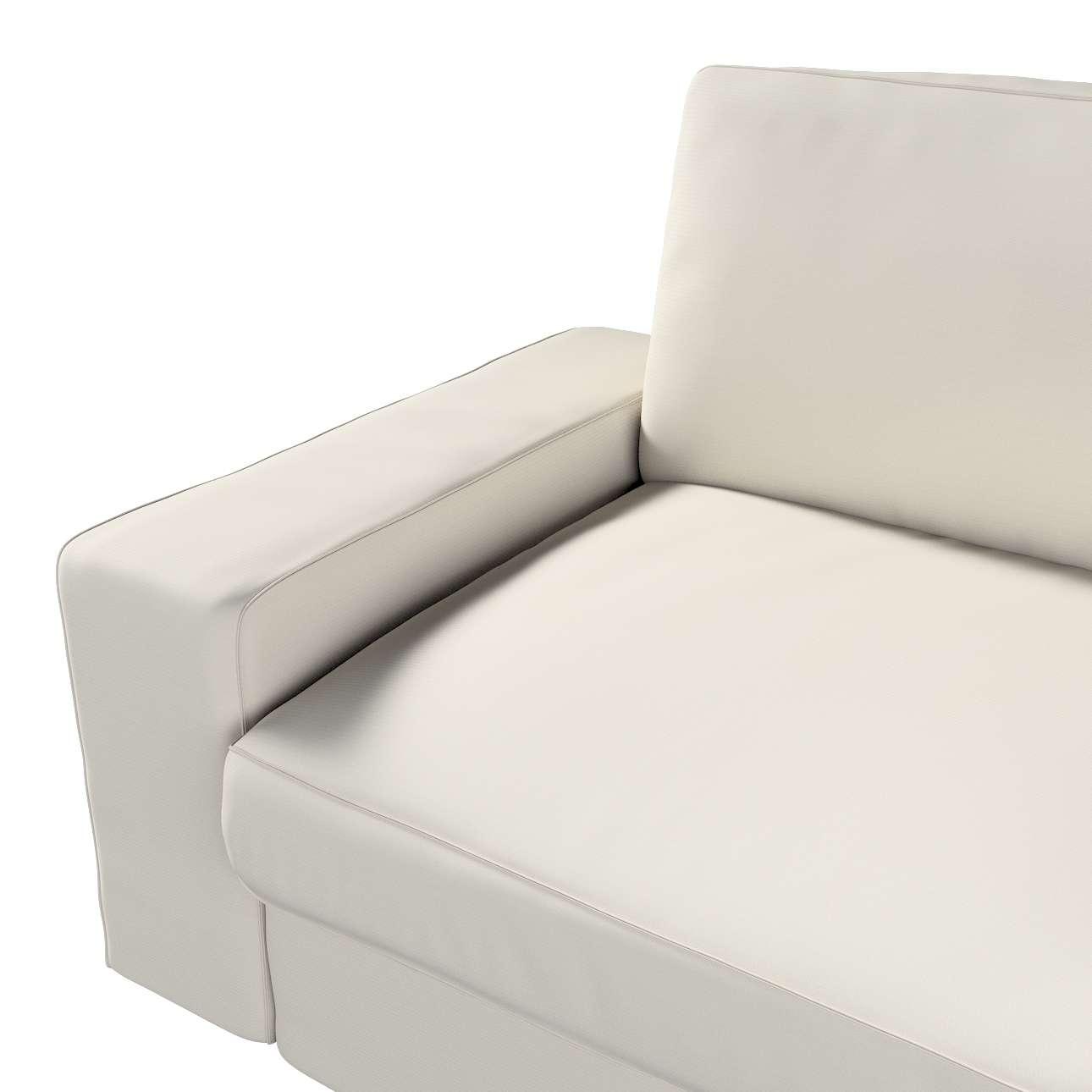 Pokrowiec na sofę Kivik 3-osobową, rozkładaną w kolekcji Cotton Panama, tkanina: 702-31