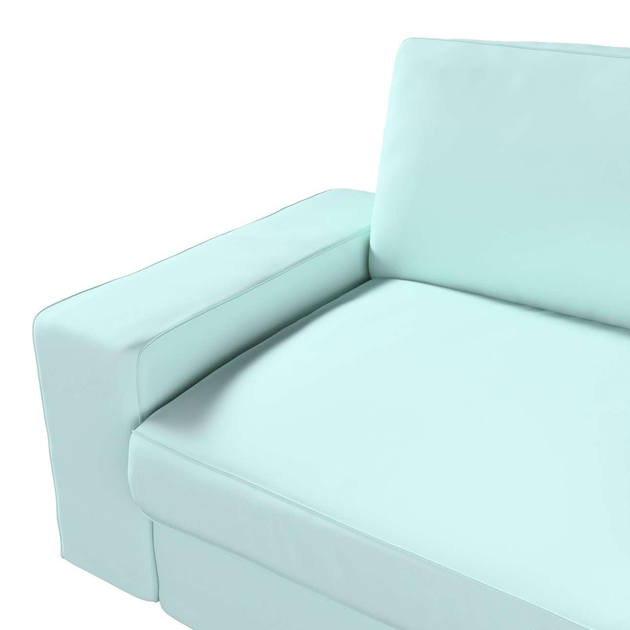 Pokrowiec na sofę Kivik 3-osobową, rozkładaną w kolekcji Cotton Panama, tkanina: 702-10