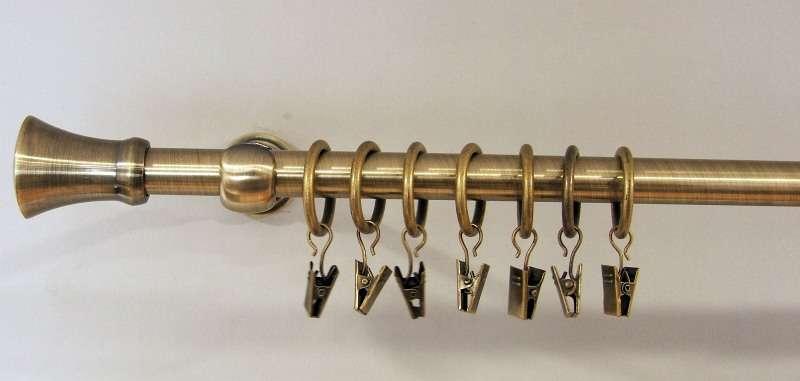 Karnizai viengubi  -  sendinto aukso spalva 160 cm