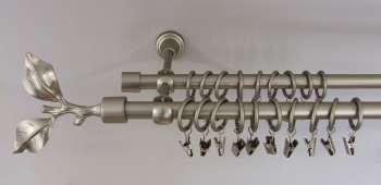 Gardinenstange Zweig matt silber (2-läufig)