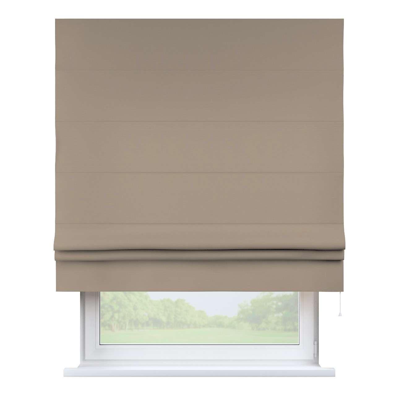 Raffrollo Padva, grau-braun , 130 × 170 cm, Cotton Panama