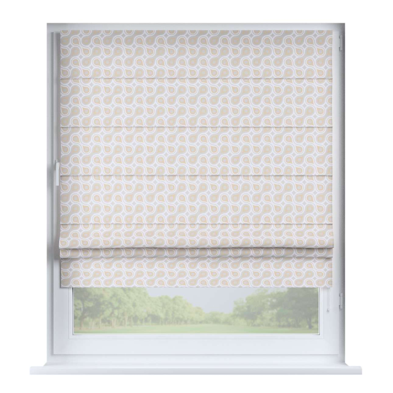 Padva roman blind  80 x 170 cm (31.5 x 67 inch) in collection Flowers, fabric: 311-11