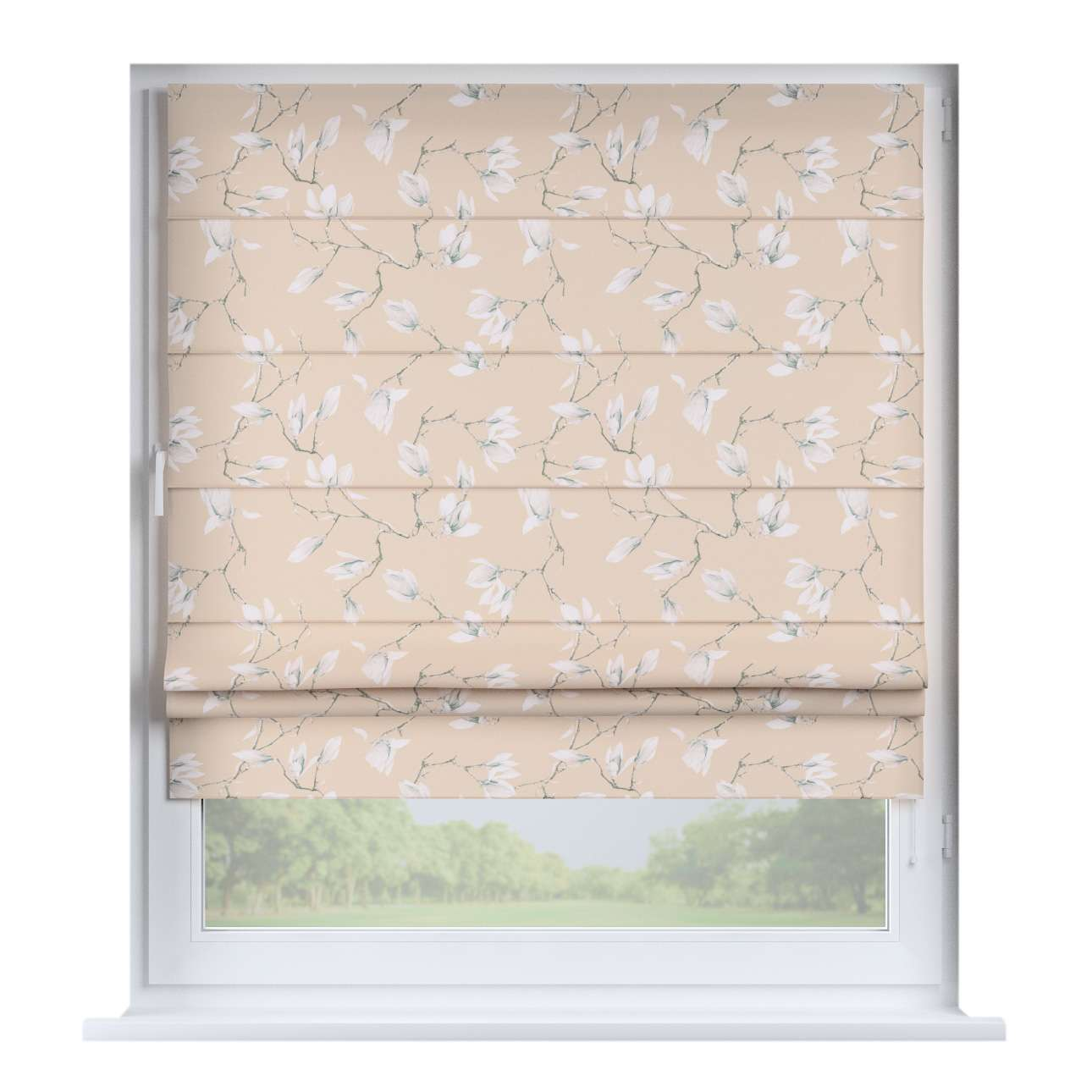Padva roman blind  80 x 170 cm (31.5 x 67 inch) in collection Flowers, fabric: 311-12