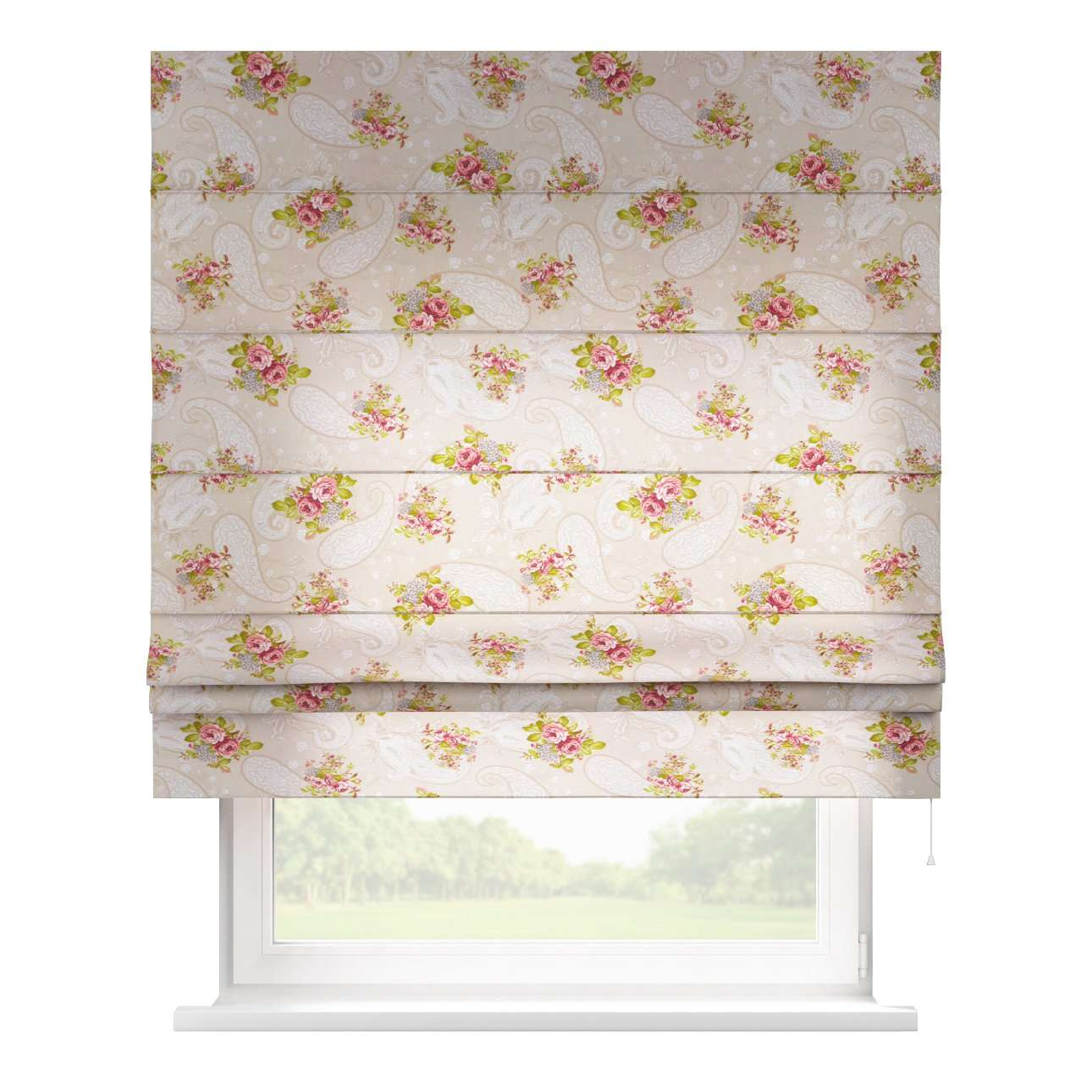 Rímska roleta Padva 80 x 170 cm V kolekcii Flowers, tkanina: 311-15