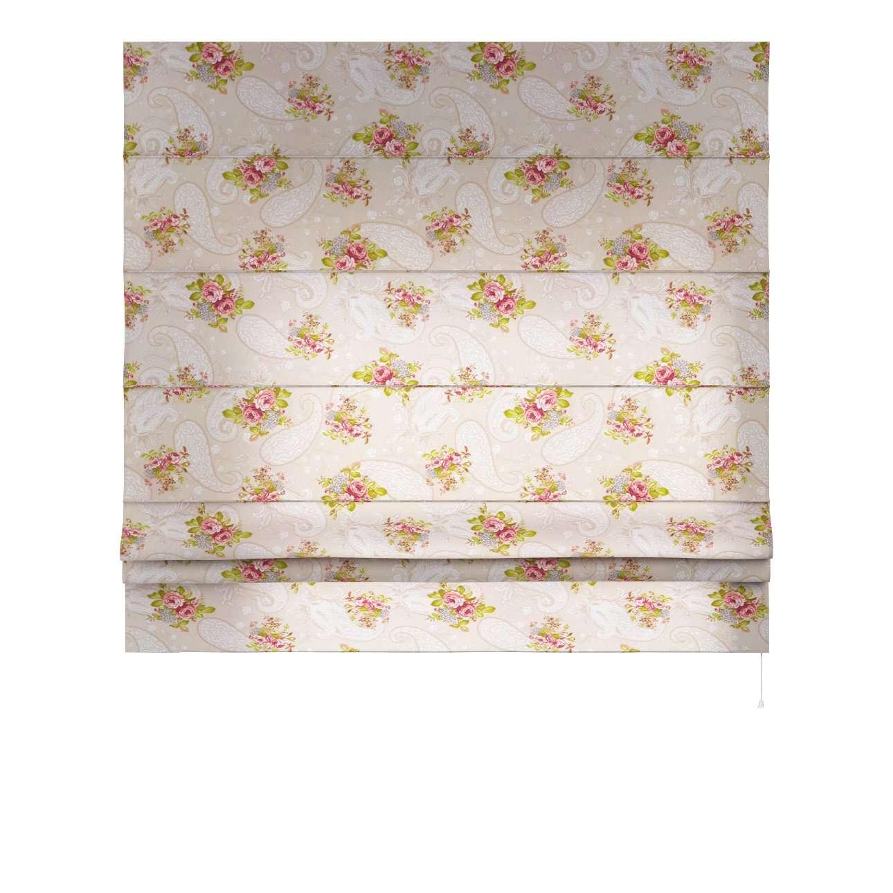 Raffrollo Padva 80 x 170 cm von der Kollektion Flowers, Stoff: 311-15