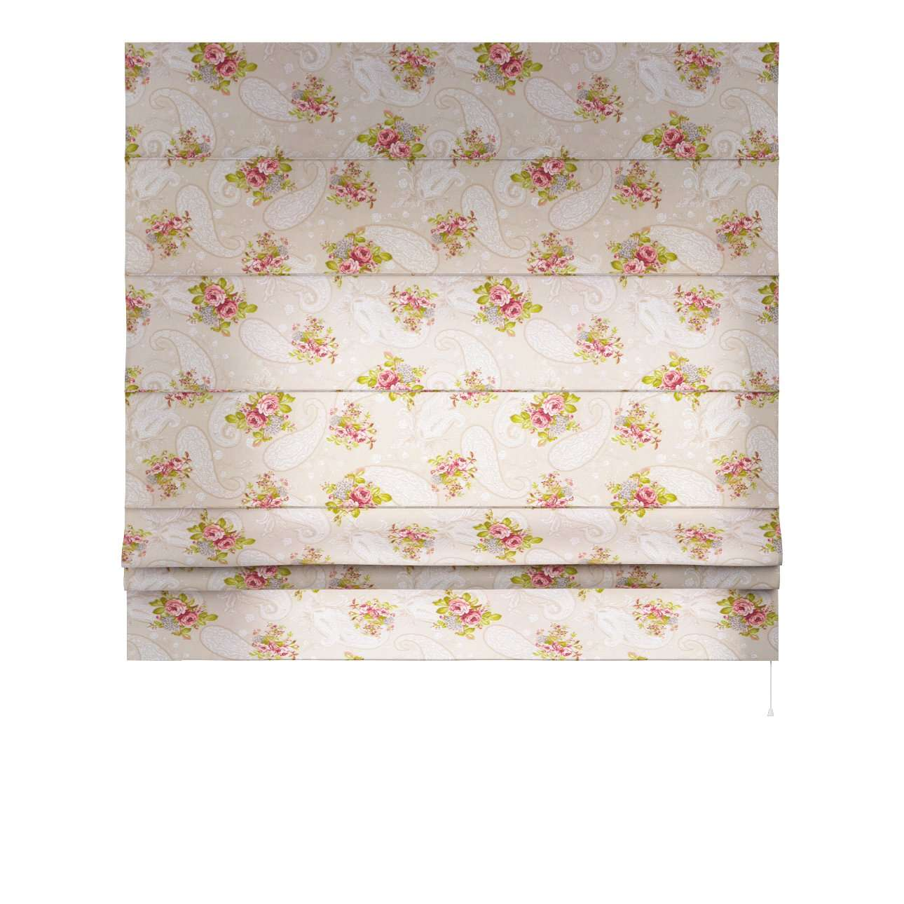 Vouwgordijn Padva 80 x 170 cm van de collectie Flowers, Stof: 311-15