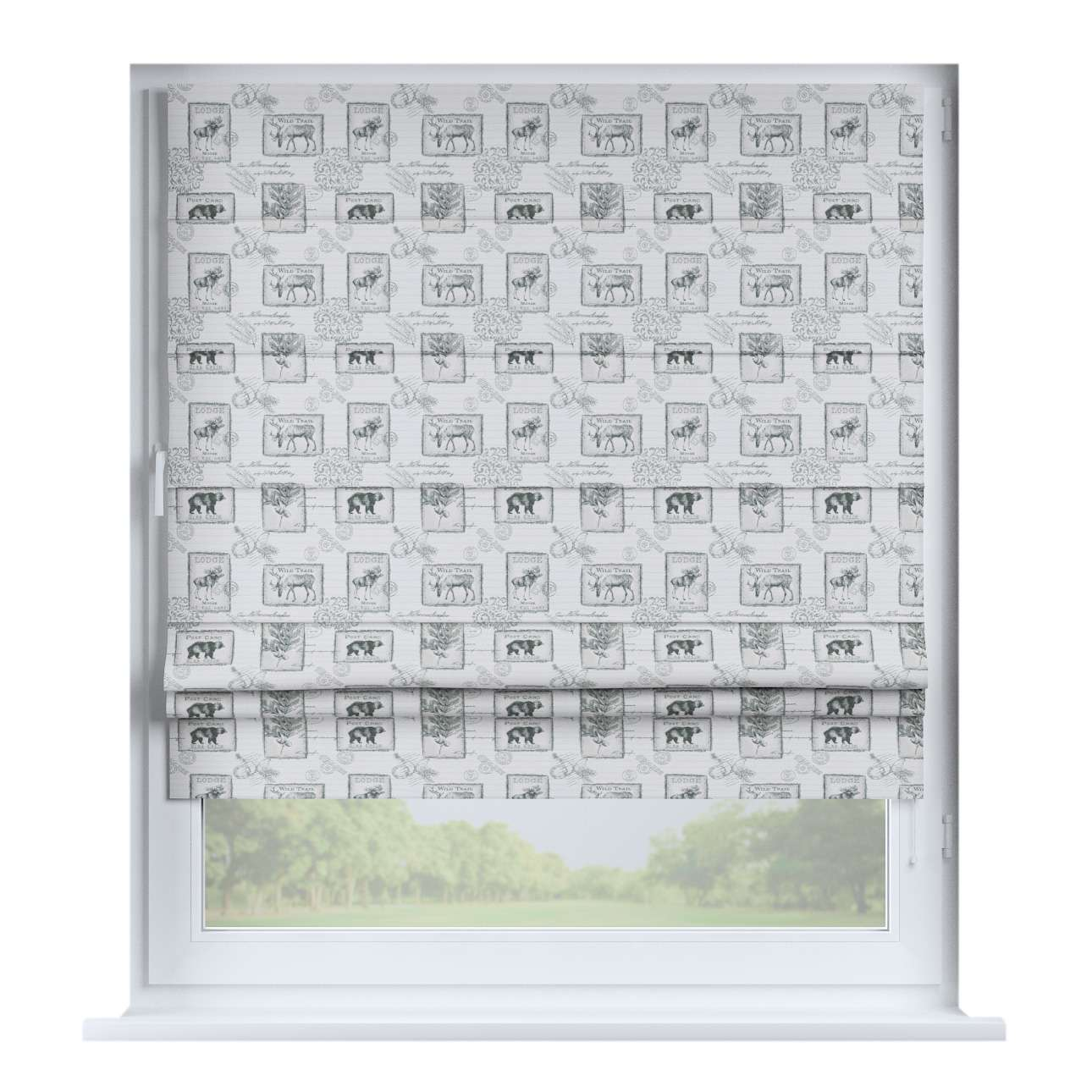 Padva roman blind  80 x 170 cm (31.5 x 67 inch) in collection Nordic, fabric: 630-18