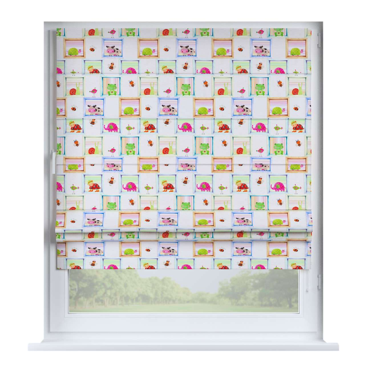 Padva roman blind  80 x 170 cm (31.5 x 67 inch) in collection Apanona, fabric: 151-04