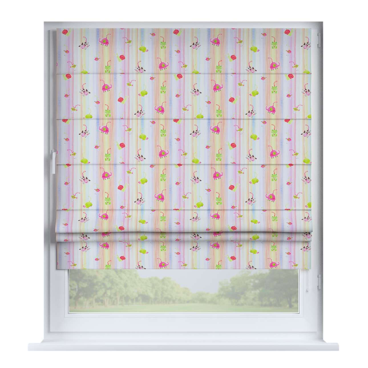 Padva roman blind  80 x 170 cm (31.5 x 67 inch) in collection Apanona, fabric: 151-05