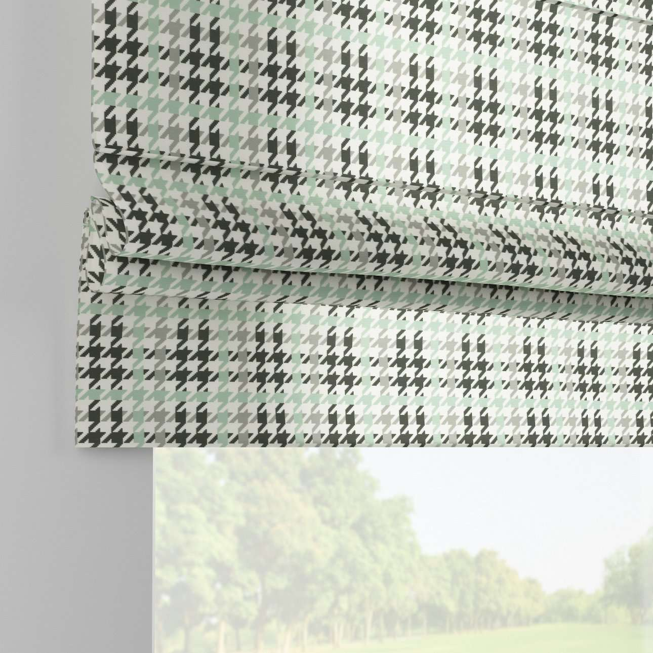 Foldegardin Paris<br/>Med lige flæse 80 x 170 cm fra kollektionen Brooklyn, Stof: 137-77