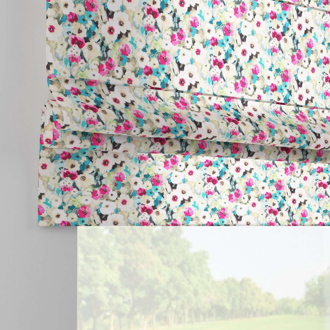 Padva roman blind  80 x 170 cm (31.5 x 67 inch) in collection Monet, fabric: 140-10