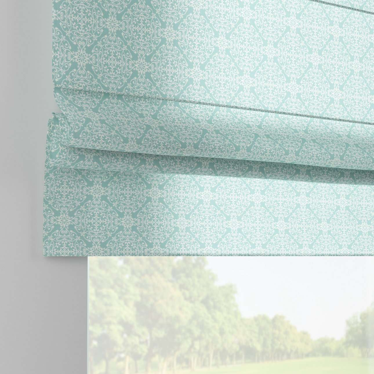 Padva roman blind  80 x 170 cm (31.5 x 67 inch) in collection Flowers, fabric: 140-37