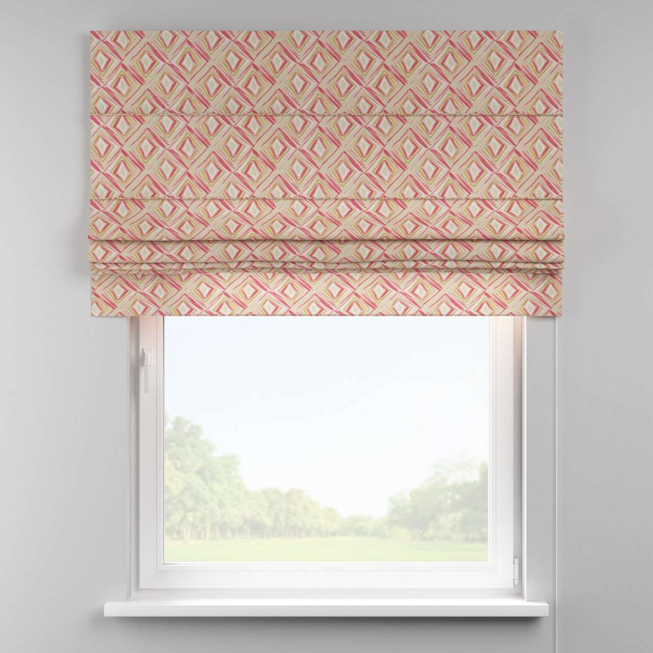 Padva roman blind  80 × 170 cm (31.5 × 67 inch) in collection Londres, fabric: 140-45