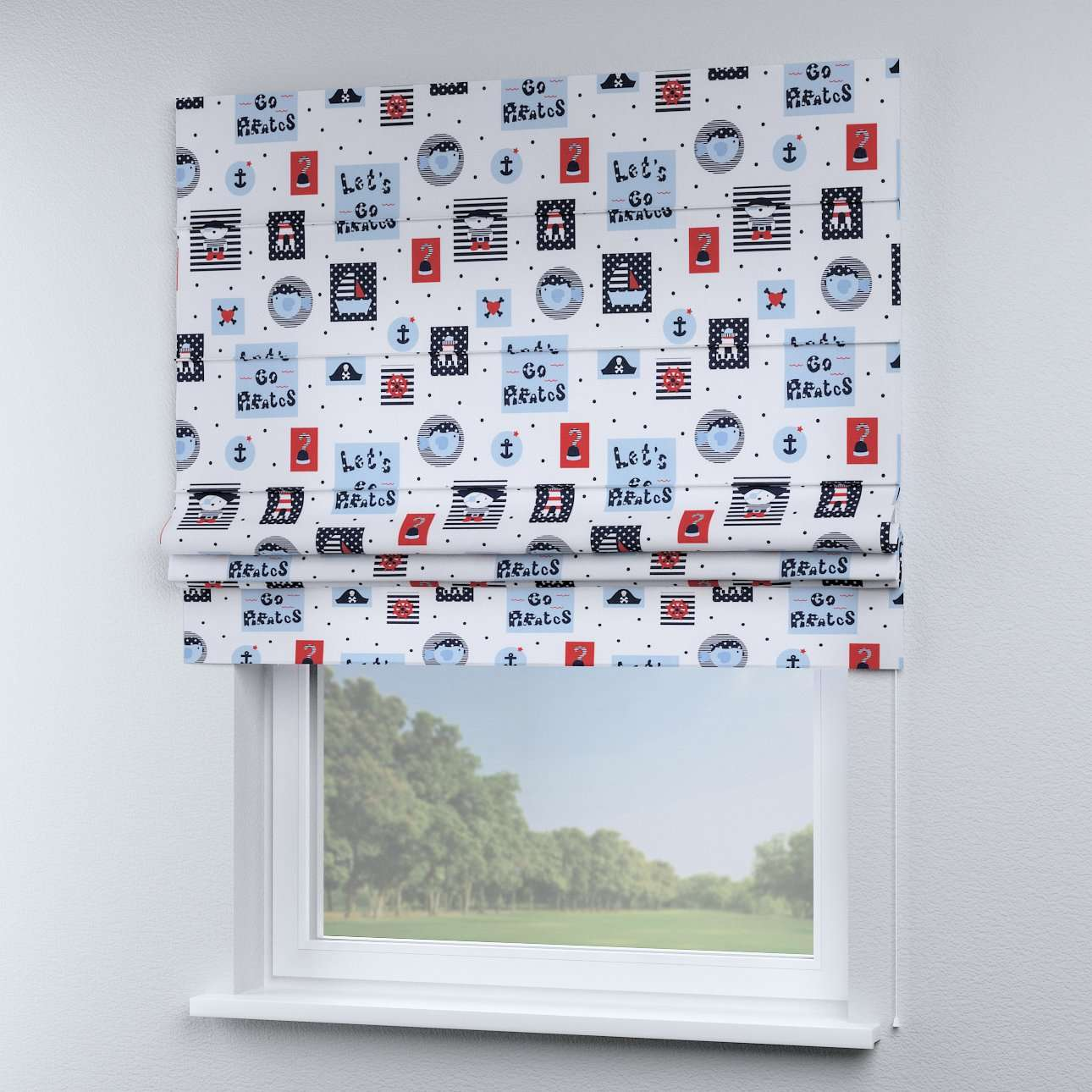 Padva roman blind  80 x 170 cm (31.5 x 67 inch) in collection Little World, fabric: 141-29