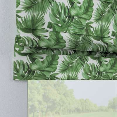 Padva roman blind 141-71 large palm leaves on white background Collection Tropical Island