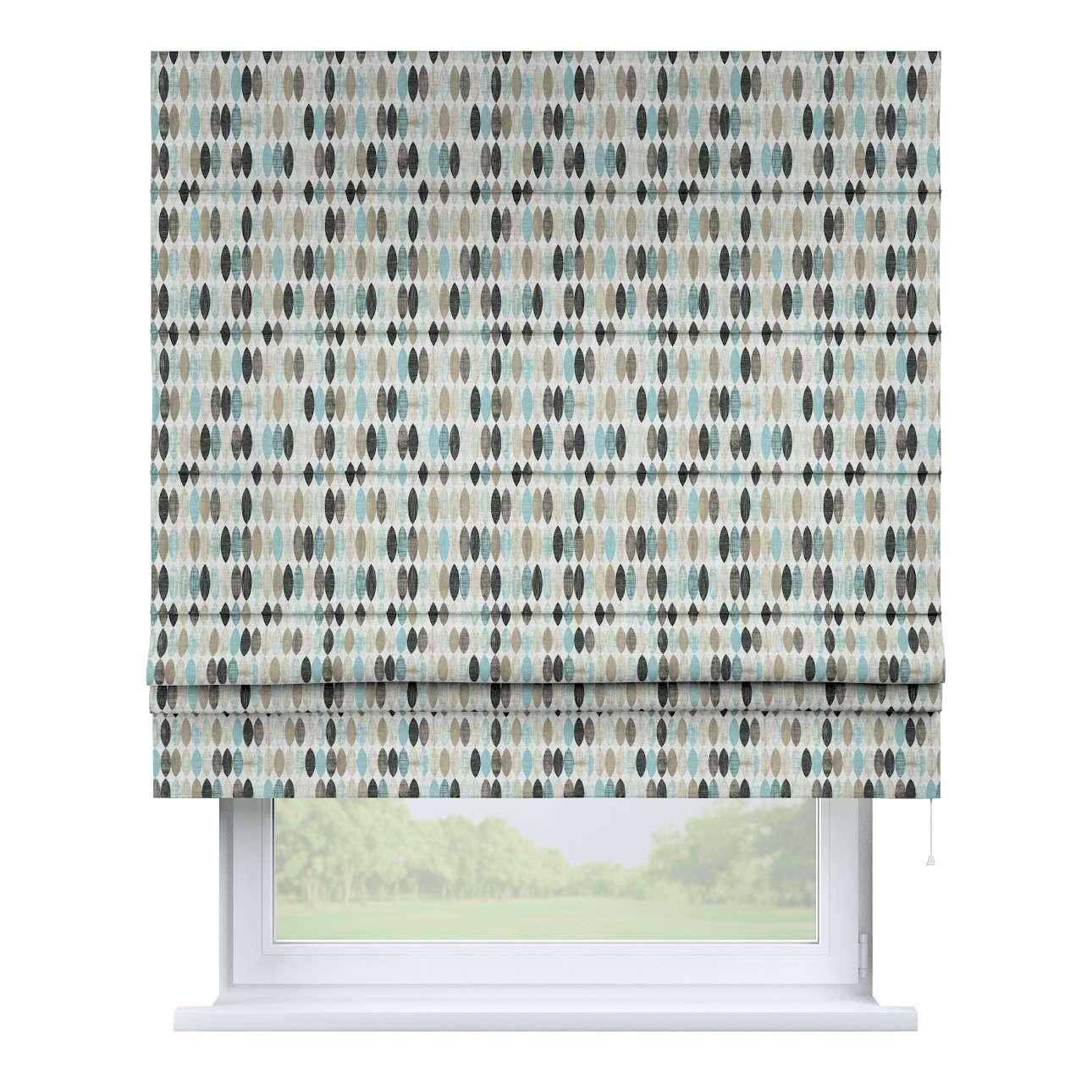 Raffrollo Padva, blau-beige, 100 × 170 cm, Modern | Heimtextilien > Jalousien und Rollos > Raffrollos | Dekoria