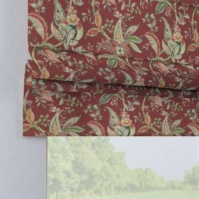 Roleta rzymska Padva 142-12 wzory roślinne i kwiatowe na czerwono-ceglanym tle Kolekcja Gardenia