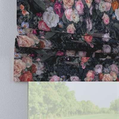 Rímska roleta Padva 161-02 farebné kvety na tmavom pozadí Kolekcia Gardenia