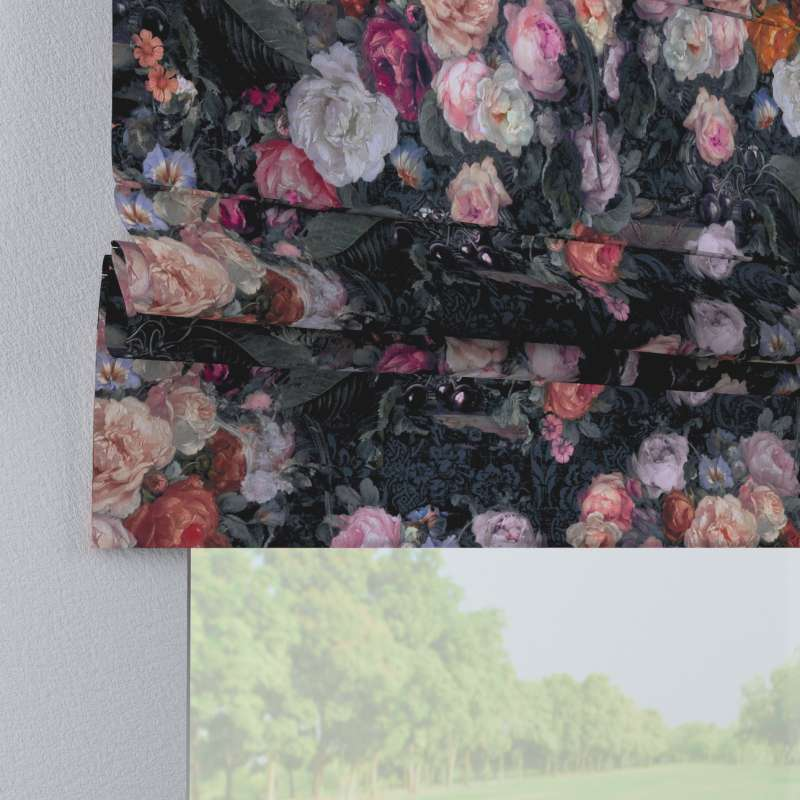 Laskosverho Paris<br/>suoralla reunalla mallistosta Gardenia, Kangas: 161-02