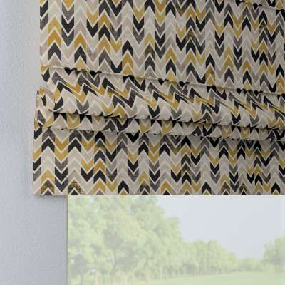 Foldegardin Paris<br/>Med lige flæse 142-79 Naturhvid med print Kollektion Modern