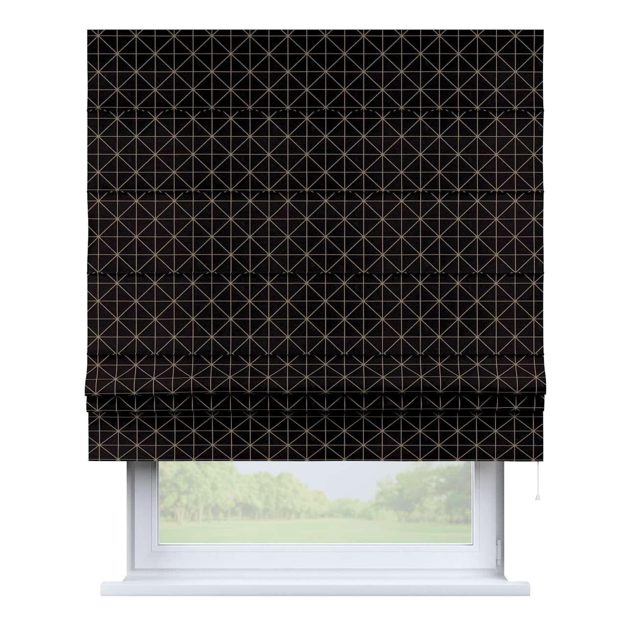 Raffrollo Padva, schwarz-weiß, 130 × 170 cm, Black & White | Heimtextilien > Jalousien und Rollos > Raffrollos | Dekoria