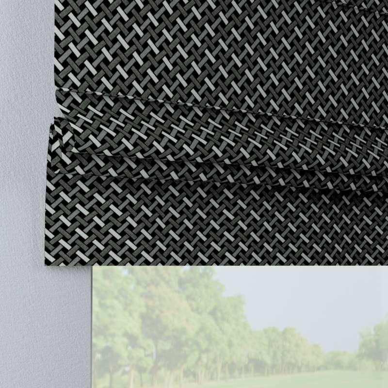 Raffrollo Padva von der Kollektion Black & White, Stoff: 142-87