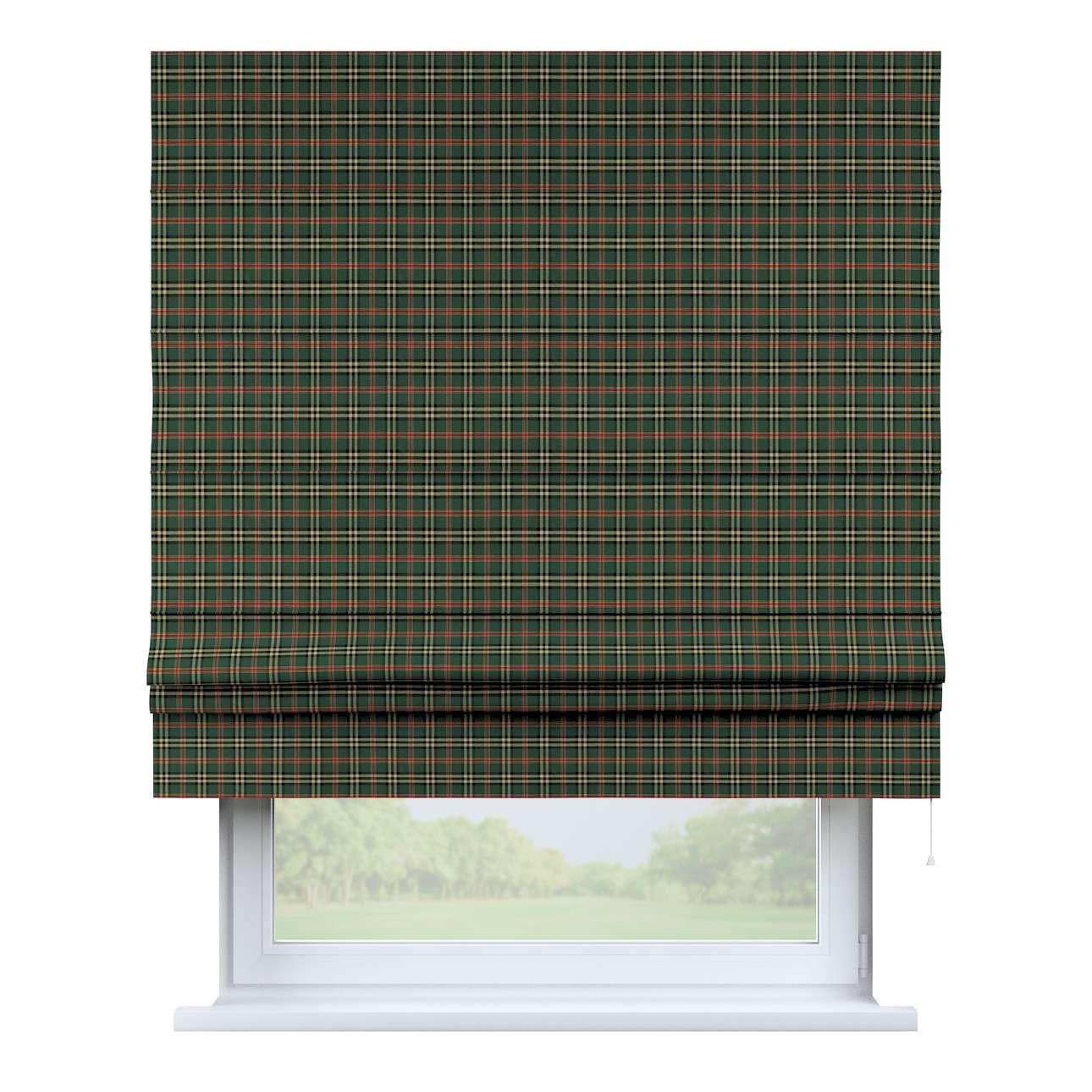 Raffrollo Padva, grün-rot, 160 × 170 cm, Bristol | Heimtextilien > Jalousien und Rollos > Raffrollos | Dekoria