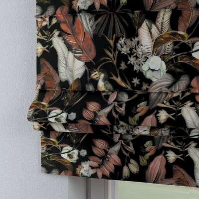 Římská roleta Padova 143-10 barevné květy na černém podkladu Kolekce Abigail