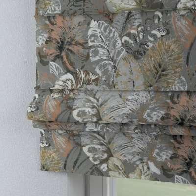 Foldegardin Paris<br/>Med lige flæse 143-19 Naturhvid med print Kollektion Abigail