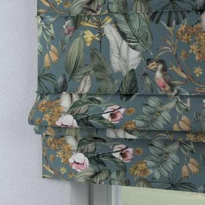 Foldegardin Paris<br/>Med lige flæse 143-24 Naturhvid med print Kollektion Abigail