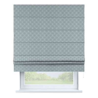 Padva roman blind 143-23 green-blue patterns on a white background Collection Comics/Geometrical