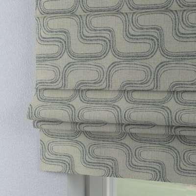 Rímska roleta Padva 143-14 šedé vzory na ľanovom podklade Kolekcia Comics