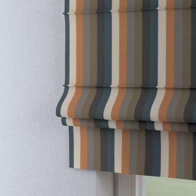 Raffrollo Padva 143-58 orange-braun-blau Kollektion Vintage 70's