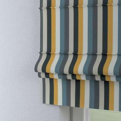 Římská roleta Padova 143-59 pruhy modrá šedá žlůutá Kolekce Vintage 70's
