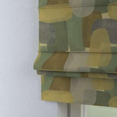 Roleta rzymska Padva 143-72 geometryczne wzory w zielono-brązowej kolorystyce Kolekcja Vintage 70's