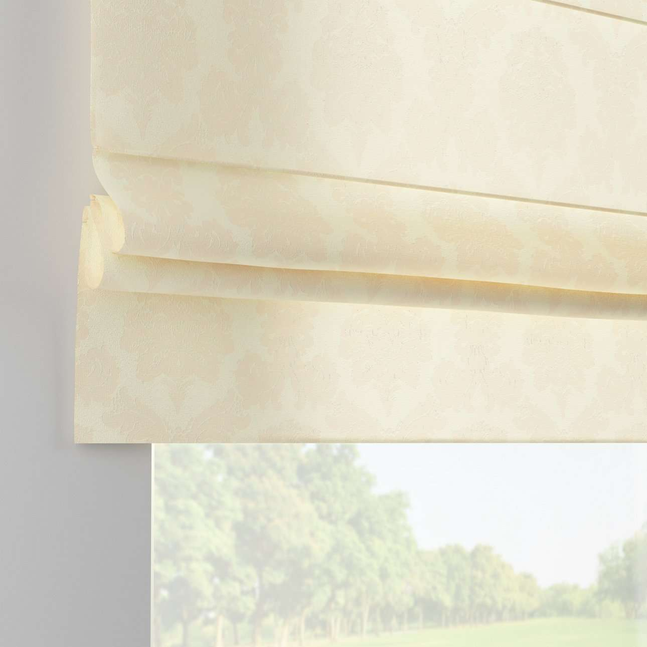 Liftgardin Paris<br/>Med rett volang 80 x 170 cm fra kolleksjonen Damasco, Stoffets bredde: 613-01