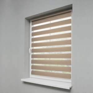 Mini Day & Night Venetian roller blind (compact design for fitting inside window recess) 38x150cm in collection Roller blinds Day & Night (Venetian blind), fabric: 0102