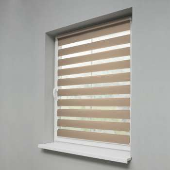 Mini Day & Night Venetian roller blind (compact design for fitting inside window recess)