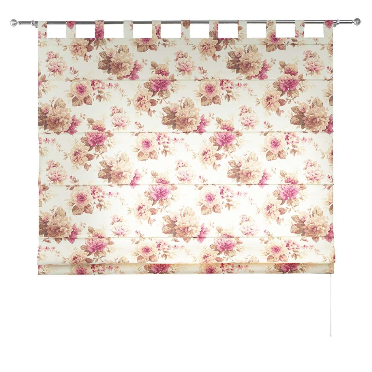 Verona tab top roman blind 80 x 170 cm (31.5 x 67 inch) in collection Mirella, fabric: 141-06