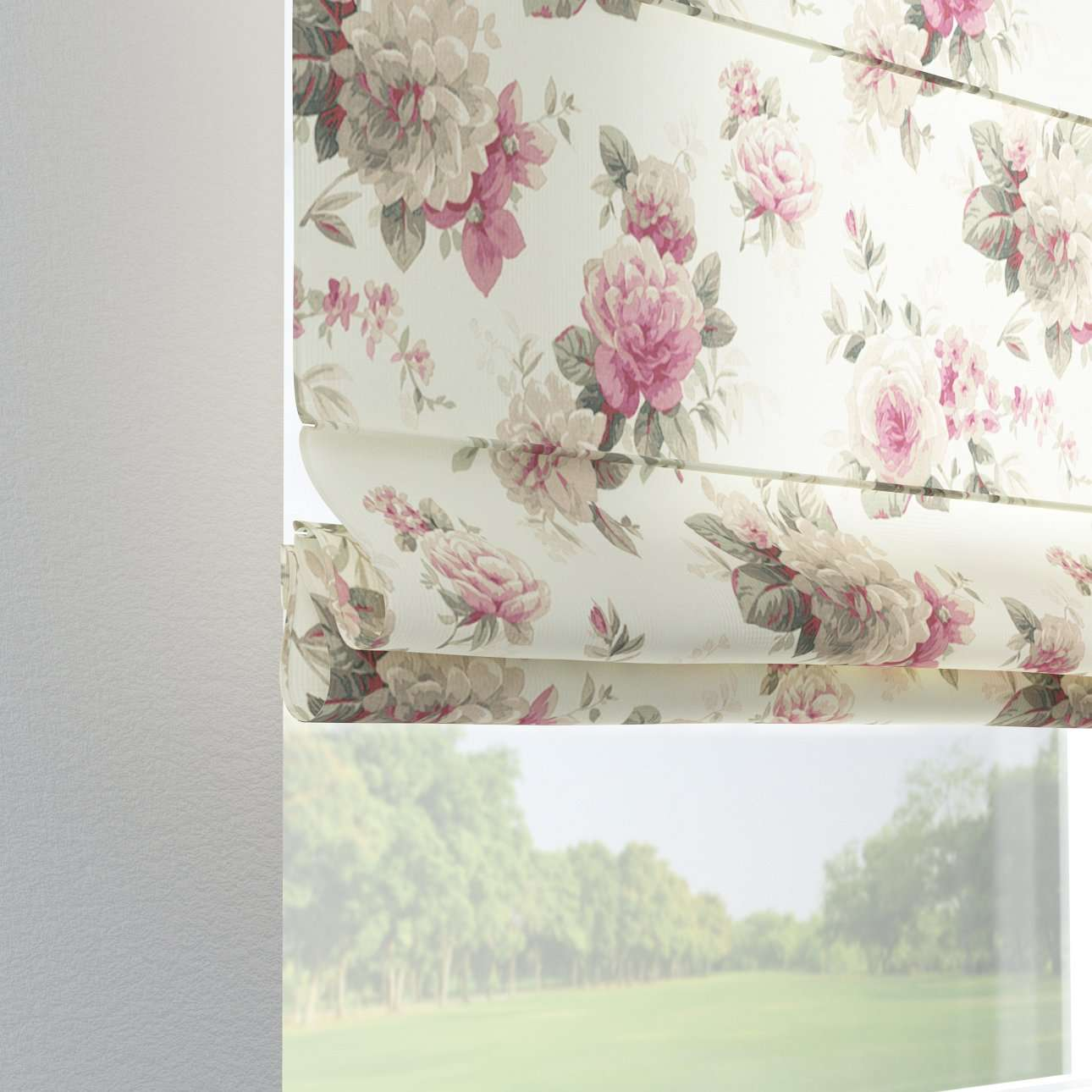Verona tab top roman blind 80 x 170 cm (31.5 x 67 inch) in collection Mirella, fabric: 141-07