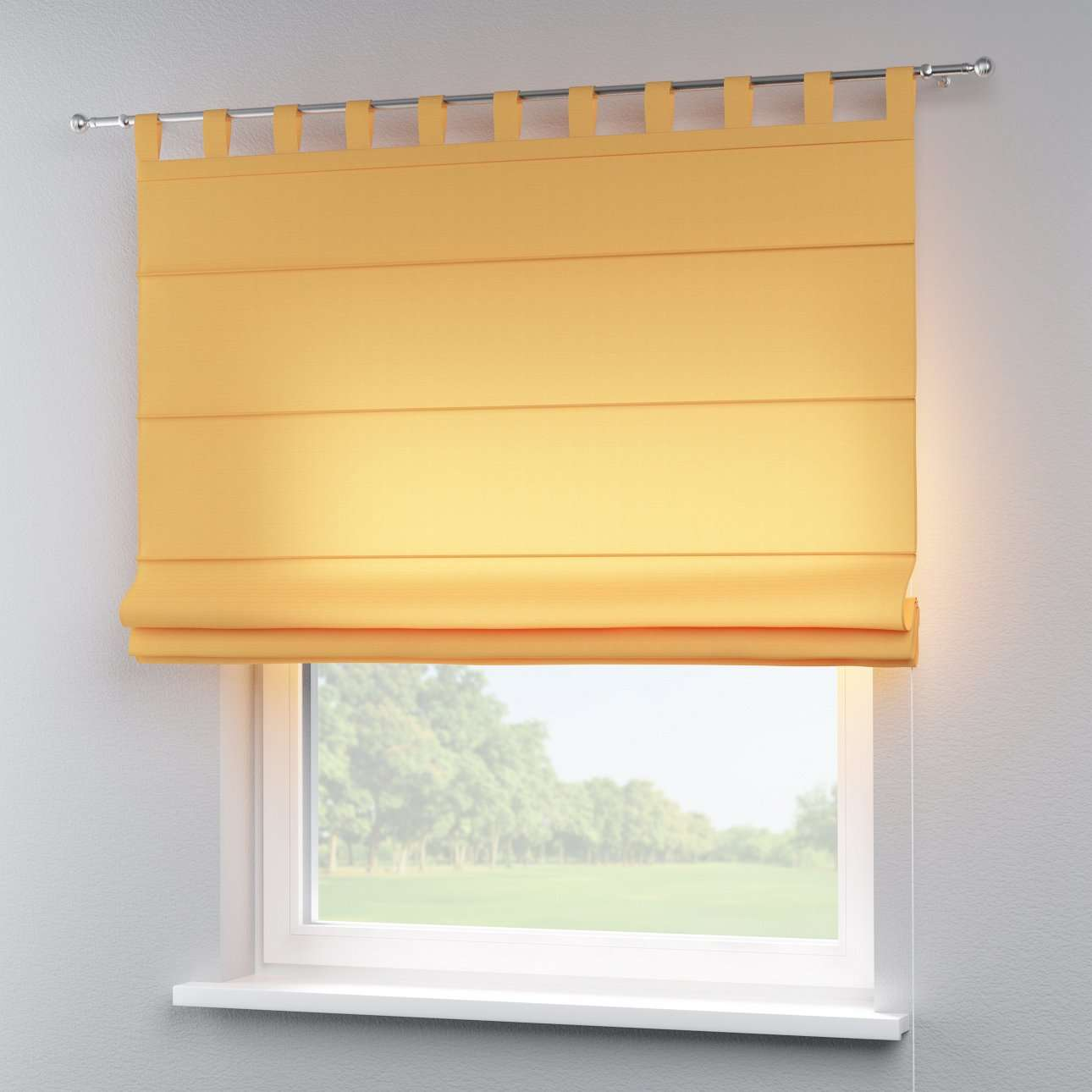 Verona tab top roman blind 80 x 170 cm (31.5 x 67 inch) in collection Jupiter, fabric: 127-46