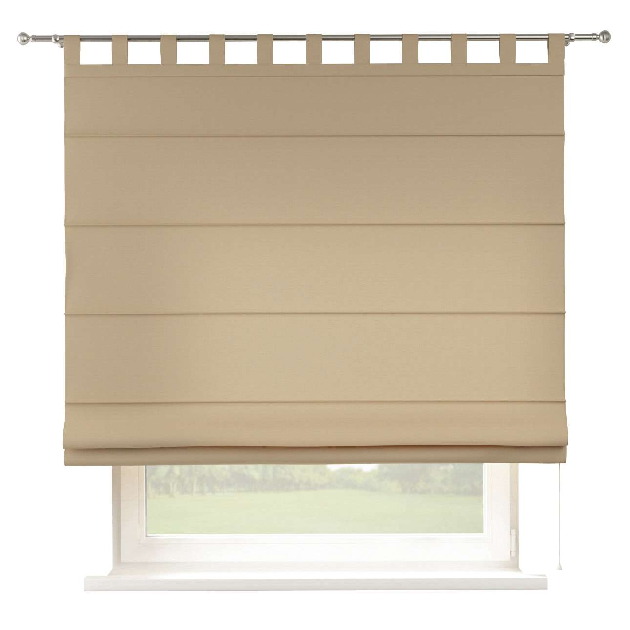 Verona tab top roman blind 80 x 170 cm (31.5 x 67 inch) in collection Cotton Panama, fabric: 702-01