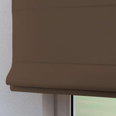 Foldegardin Verona<br/>Med stropper til gardinstang 702-02 Mellembrun Kollektion Cotton Panama