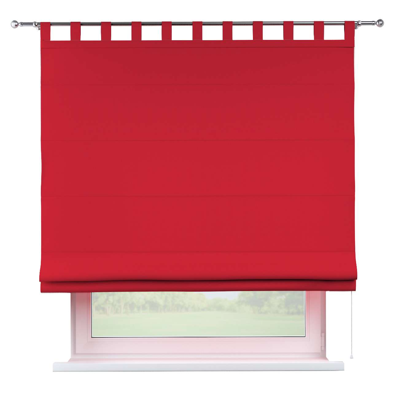 Verona tab top roman blind 80 x 170 cm (31.5 x 67 inch) in collection Cotton Panama, fabric: 702-04
