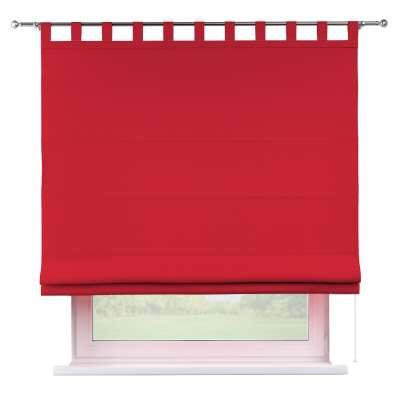 Foldegardin Verona<br/>Med stropper til gardinstang 702-04 Rød Kollektion Cotton Panama
