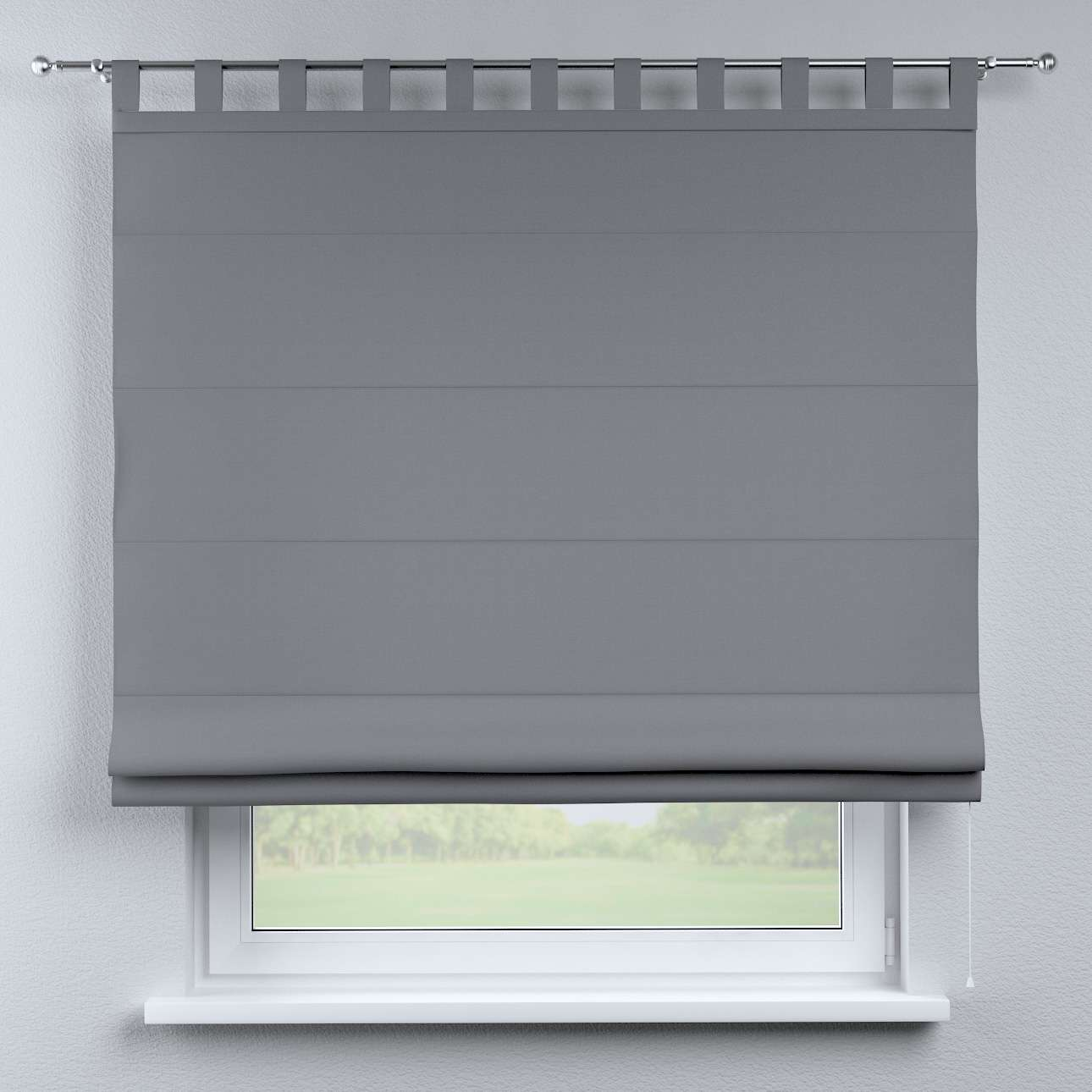 Verona tab top roman blind 80 x 170 cm (31.5 x 67 inch) in collection Cotton Panama, fabric: 702-07
