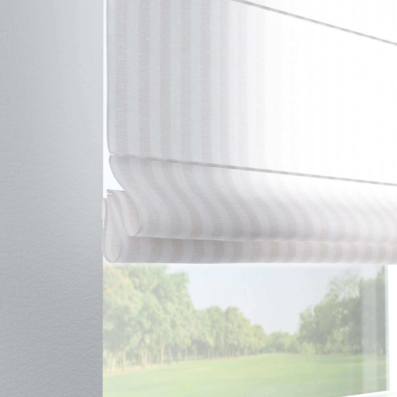 Foldegardin Verona<br/>Med stropper til gardinstang 80 x 170 cm fra kollektionen Linen, Stof: 392-03