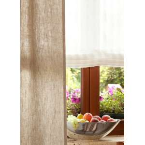 Verona tab top roman blind 80 x 170 cm (31.5 x 67 inch) in collection Linen, fabric: 392-03